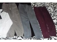 AGE 12-13 YEARS SELECTION OF BOYS CLOTHES TROUSERS + SHIRT