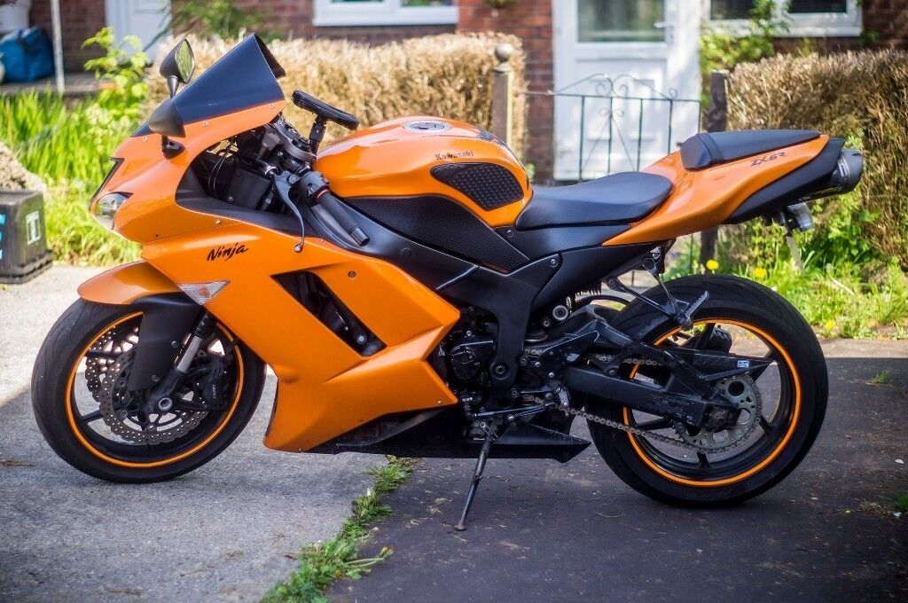Kawasaki ZX6R ZX 6R 2008 Orange