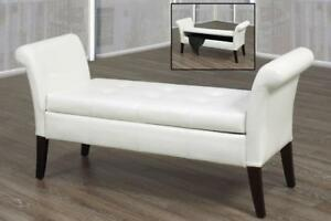 White Storage Bench - IF-668W in Toronto Furniture Sale (BD-1476)