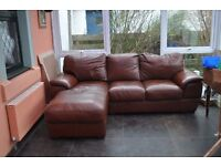 Beautiful quality leather couch for sale. extremely comfortable, slight wear and tear see photos