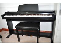 Technics Digital Piano and Stool - High Quality Sampled off a Steinway Grand Piano