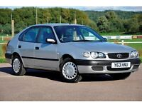 2001 Toyota Corolla 1.6 S 5dr+1 FORMER KEEPER+AUTOMATIC+12 MONTHS MOT+ FULL SERVICE HISTORY