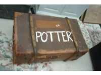 Vintage large storage chest trunk case