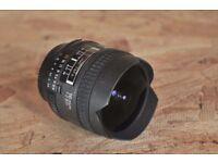 Nikon 16mm F/2.8 AF-D Fisheye Lens. Used A+++ Cond