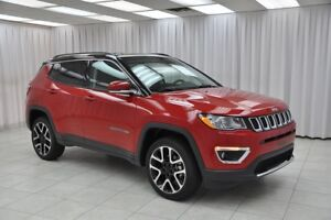 2017 Jeep Compass LIMITED 4x4 SUV w/ NAV, HEATED LEATHER, BACK-U