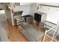 Bright spacious professional commercial kitchen to rent in NW10 (short/long term)