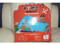 Pirate Hideout House Childrens Pop-Up Tent with Tunnel/Perfect condition comes with box