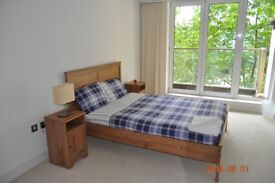 DOUBLE BEDROOM WITH BALCONY WITH RIVER VIEWS IN ROYAL VICTORIA DOCK NEW BUILD INC ALL BILLS