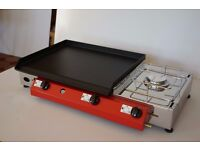 Lpg Griddle Barbecue Hot Plate 51x40 cm With Cooker 3kw