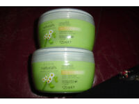 NEW 2 POTS OF AVON NATURALS HAIR MASK TREATMENT CAMOMILE + ALOE VERA