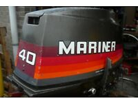 MARINER 40hp OUTBOARD ENGINE LONG SHAFT. MANUAL START