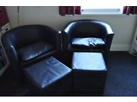 2+ Faux Leather Armchairs IKEA