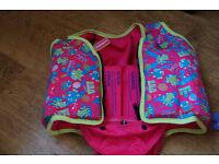 Pink Speedo Sea Squad Swim Vest With Pants size 3-4 yrs