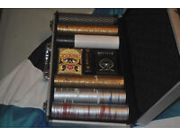 POKER SET WITH ALL ACCESSORIES, IN AN ALUMINIUM BRIEF CASE, VERY NICE CONDITION
