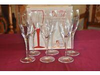 Luigi Bormioli Light & Music Spumante Champagne flutes x 12 BNIB