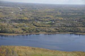 Corner lot for sale with water view in Grand Barachois