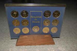 Commerative Canadian Coat Of Arms Coin Set With Stand.