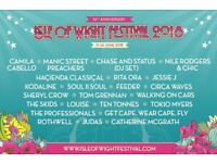 Isle of Wight Adult ticket, child ticket and family camping June 2018