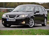 2009 Saab 9-3 1.9 TiD Vector Sport SportWagon 5dr+DIESEL+FREE WARRANTY+FULL SERVICE+VERY HIGH SPEC.