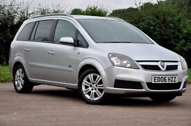 2006 Vauxhall Zafira 1.8 i 16v Active 5dr+MPV+7 SEATER+LOW MILEAGE+LONG MOT+JUST SERVICED