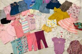 50+ baby girls clothes bundle 6-12 months