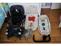 Bugaboo Bee Plus Two Button Fold Short Strap Andy Warhol Happy Bugs Limited Edition LOTS EXTRAS