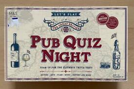 Pub Quiz Night Trivia Game (Brand New)