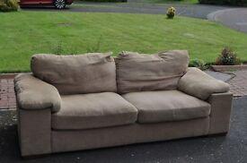 3 person fabric sofa