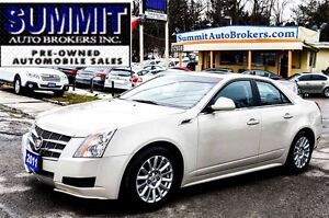 2011 Cadillac CTS LEATHER   PANO ROOF   BLUETOOTH   POWER HEATED