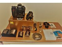 Nikon D3 comes with 4 batterys shutter count 115554