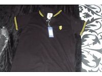 "AGE 12-13 YEARS NEW BLACK ""LAMBRELLA"" POLO STYLE TOP NEVER BEEN WORN"