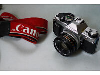 Canon AE-1 Program manual automatic 35mm slr analog film camera lomo lomography