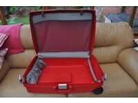 Two large and three cabin baggage pull along suitcases for sale