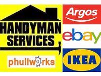 HANDYMAN SERVICES - TV BRACKET - CARPENTER - FLAT PACK ASSEMBLY / SLIDING DOORS IKEA FLATPACK