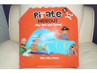 Pirate Hideout House Childrens Pop-Up Tent with Tunnel in box