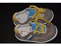Toddler baby boy Clarks shoes size 5 F inafnt autumn BRAND NEW! Original price £32
