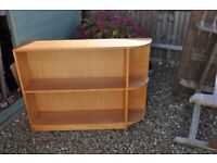 Curved ended bookcase
