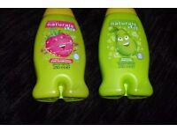 NEW SET OF 2 AVON NATURALS KIDS BODY WASH/BUBBLE BATH