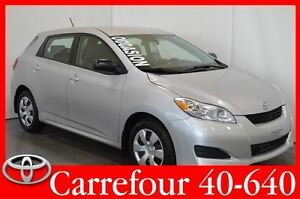 2012 Toyota Matrix Gr.Electrique+Air+Demarreur a Distance
