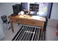 Amazing vintage retro antique solid wood old writing dressing desk or dining table