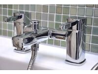 BRAND NEW BOXED - Dual Bath Mixer Filler Shower & Tap