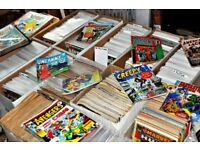 VERY LARGE COLLECTION OF BRITISH AND AMERICAN COMICS OF VARIOUS ERA'SMANY DC AND MARVEL ISSUES