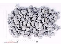 SILVER GREY GRANITE CHIPPINGS - Free Delivery- 20 kg