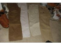 SELECTION OF MEN'S TROUSERS 4 PAIRS IN TOTAL SIZE 32S + 34S