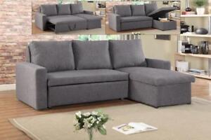 Sectional Sofa Bed with Reversible Chaise (IF251)