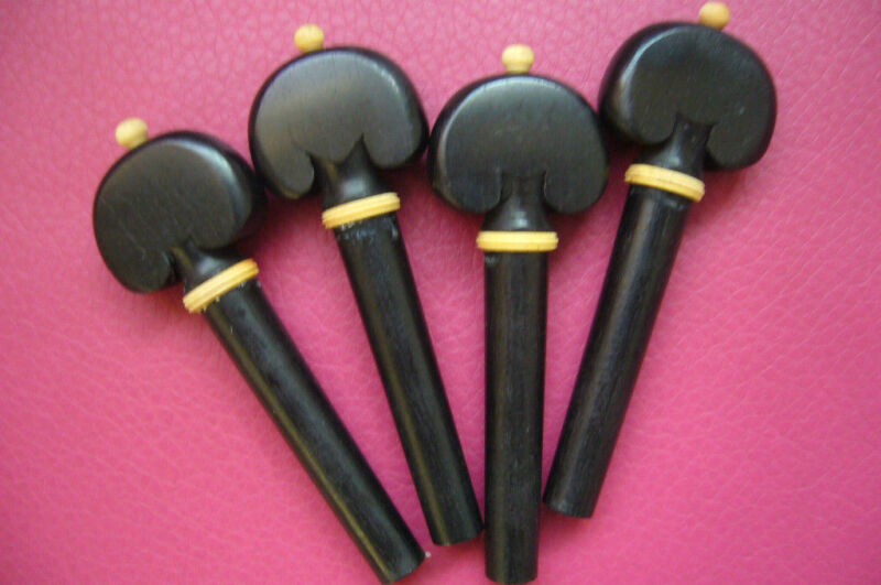 10 sets 40pcs violin pegs 4/4 natural Ebony wood