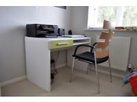 Desk, chair and matching storage unit, high quality items