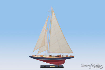 RAINBOW WOODEN MODEL YATCH SHIP BOAT 60CM SAILBOAT GIFT DECORATION 60cm