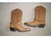 Mens Cowboy Boots Size 7.5