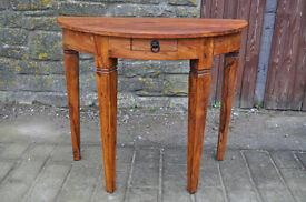 jali sheesham half moon table